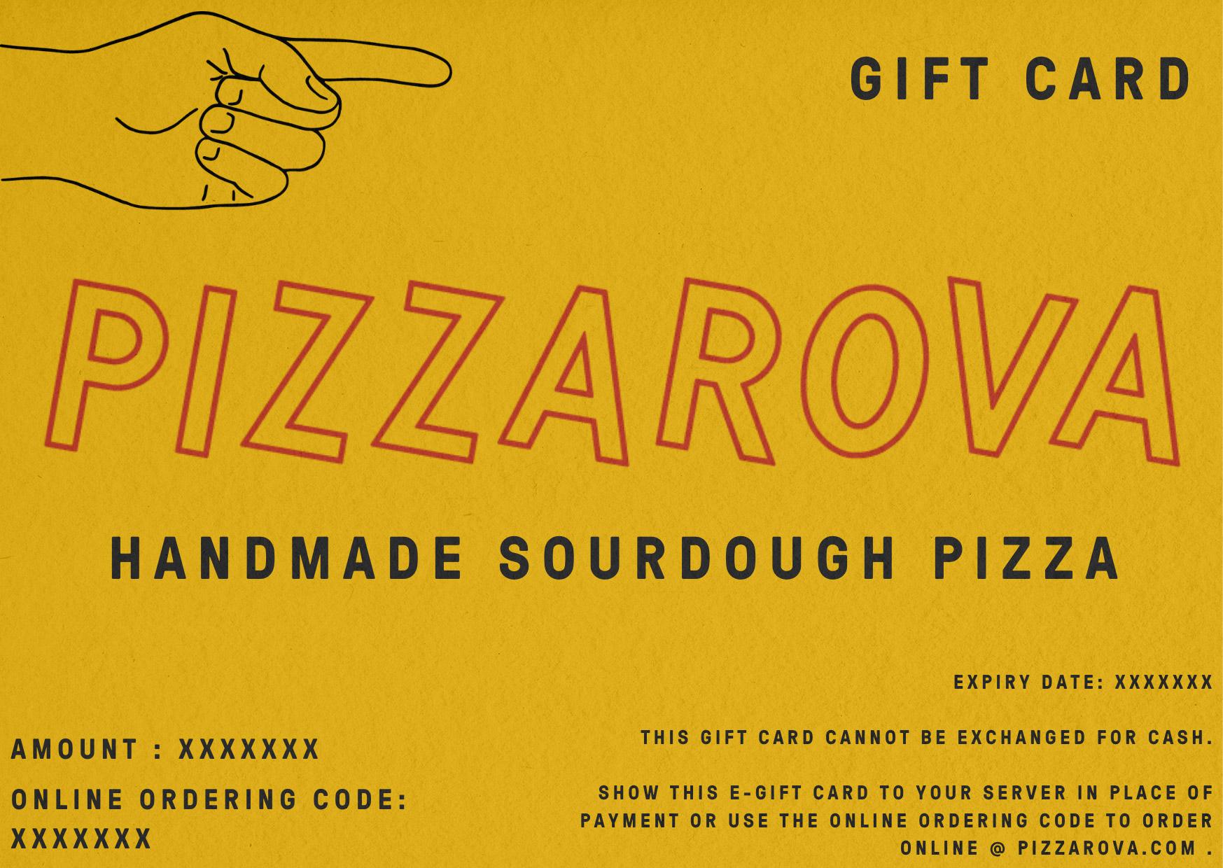 Pizzarova gift card